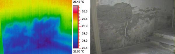 termografia per misurare umidità di risalita