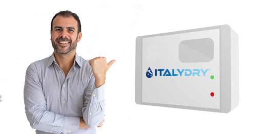 Eliminazione umidità di risalita con centralina ItalyDry a parete