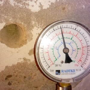 Manometro Radtke Classic per misurazione umidità con metodo al carburo di calcio