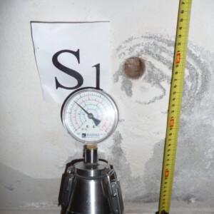 Misurazione umidità di risalita con metodo al carburo di calcio